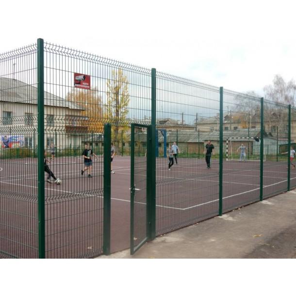 Фото Панельный забор для спортплощадки H - 3.06 м /ППЛ/3D/200х50/4мм Ограждение спортивных площадок