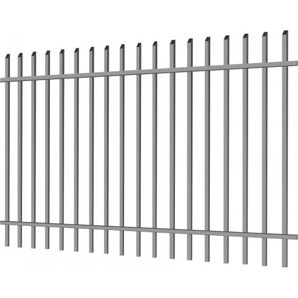 """Фото Металлический забор """"Деко секьюрити"""" 2.5х2 из профильной трубы Забор из металлопрофиля"""