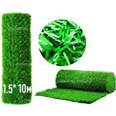 Фото Забор Green mix зелёная трава H -1,5х10 Зелёный забор - Green Mix ТМ