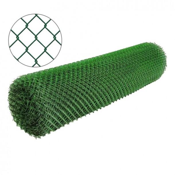 Фото Сетка рабица с полимерным покрытием 35х35мм/1,5/2,50мм 1,5м/10м Сетка рабица в рулонах